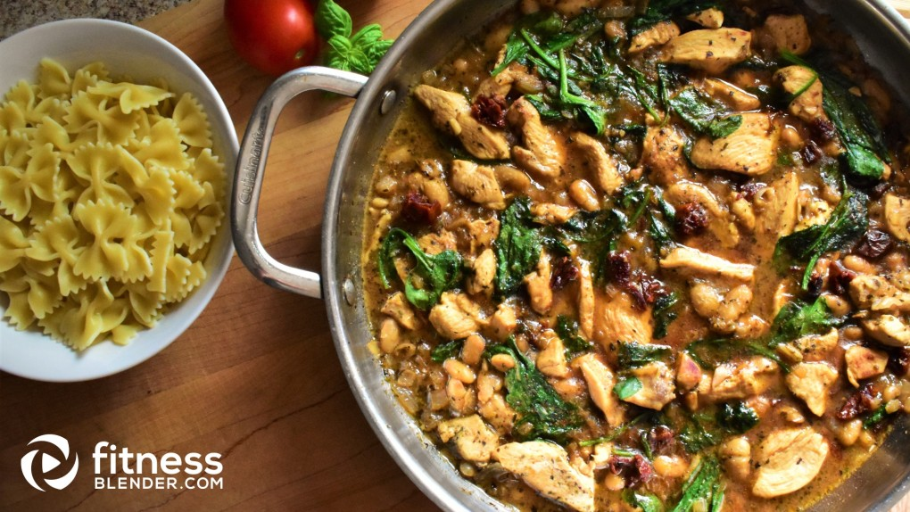 Sun-Dried Tomato and Spinach Chicken Skillet