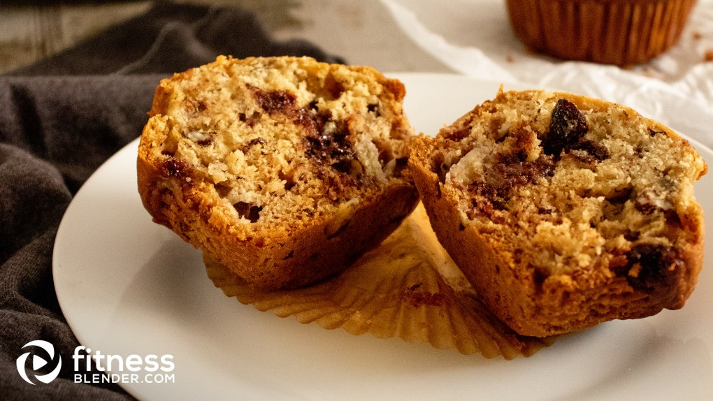 One Bowl Choco-Banana Nut Muffins