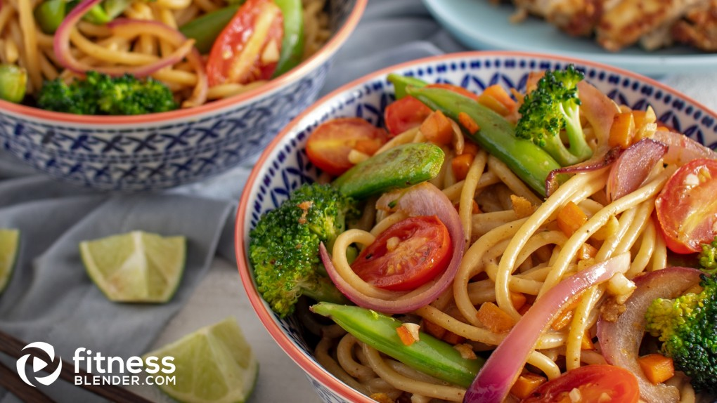 Peanut Chicken with Veggie Singapore Noodles