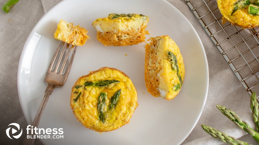 Sweet Potato and Asparagus Egg Bites