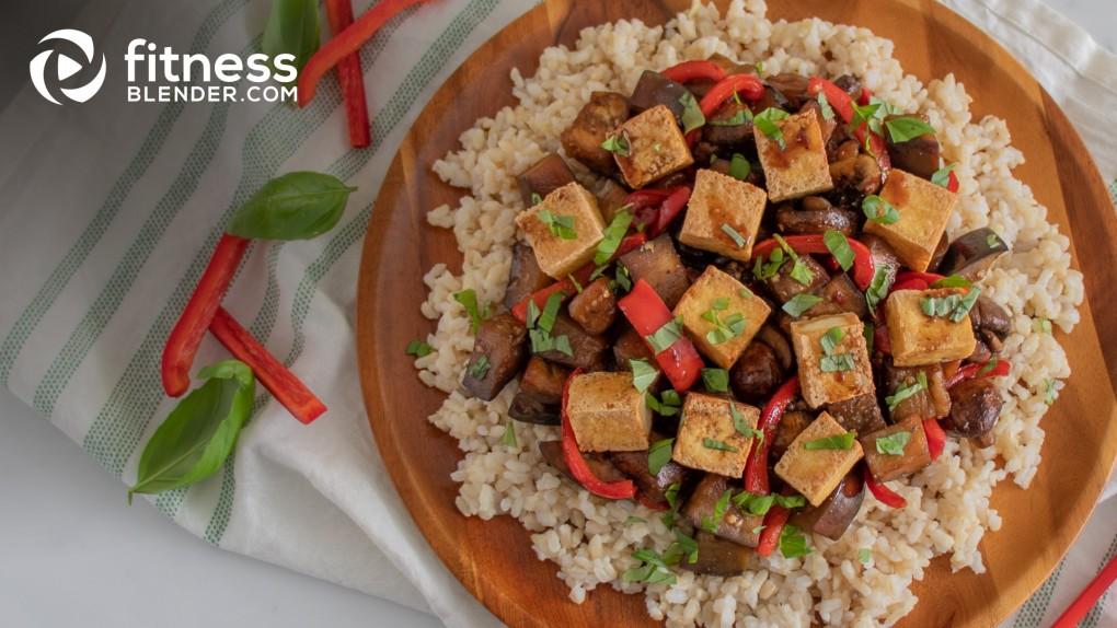 Stir-Fried Tofu with Eggplant and Mushrooms