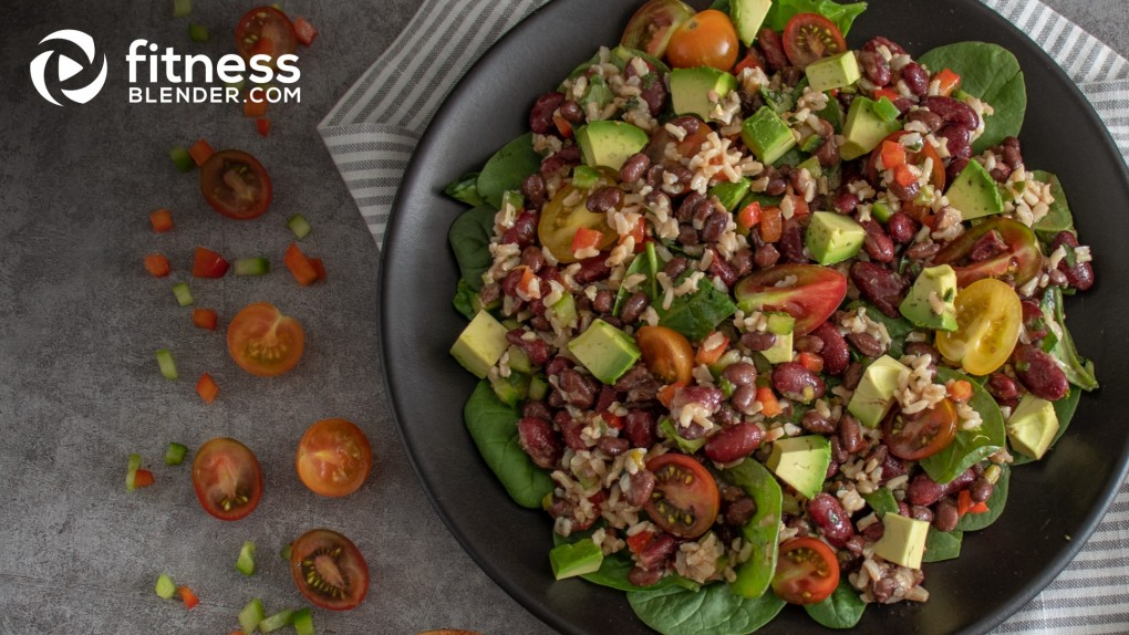Tex-Mex Rice and Bean Salad with Herbaceous Vinaigrette
