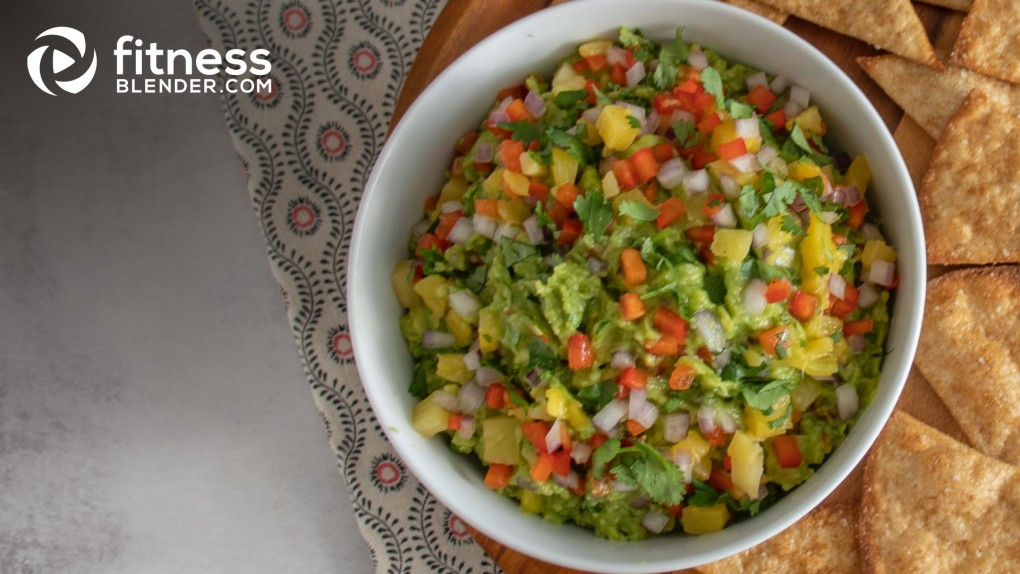 Pineapple Salsa Guacamole with Baked Tortillas
