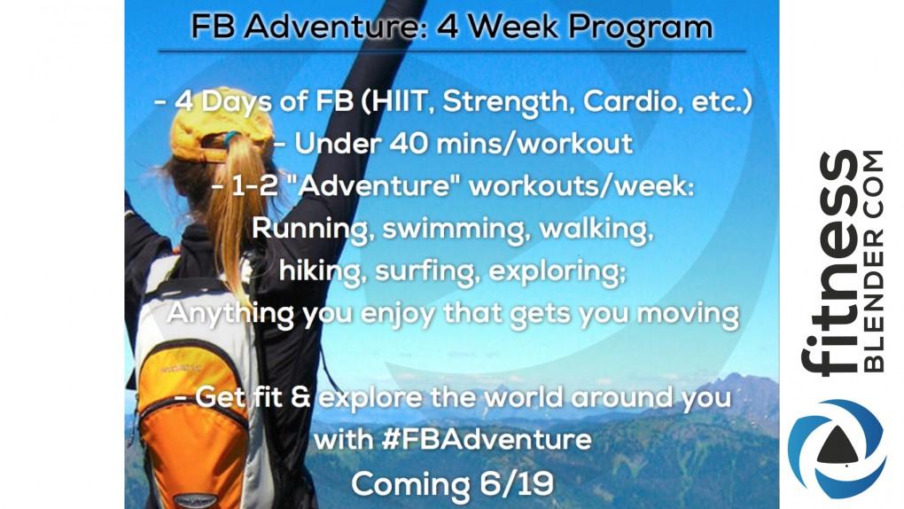 4 Week FBAdventure Program - New FB Plan Launching 6/21