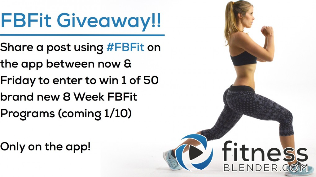 FBFit Giveaway! New 8 Week FBFit Coming 1/10/16