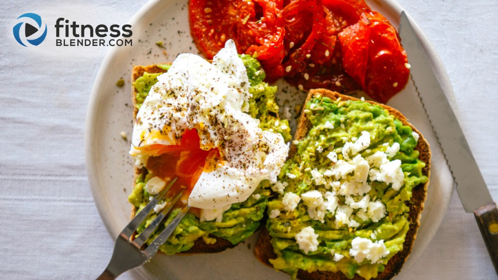 Avocado and Egg Open-Faced Sandwich with Roasted Tomatoes