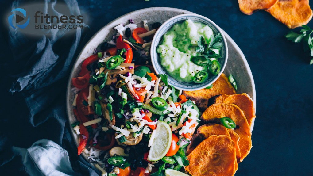 Mexican Pile On with Sweet Potato Chips and Guacamole
