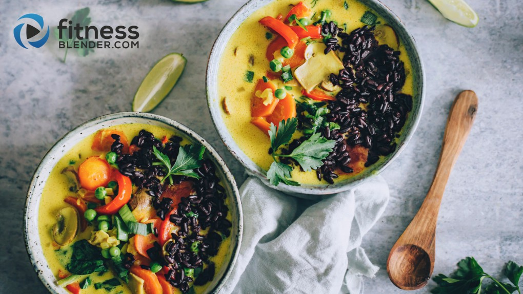 Yellow Curry Soup with Black Rice
