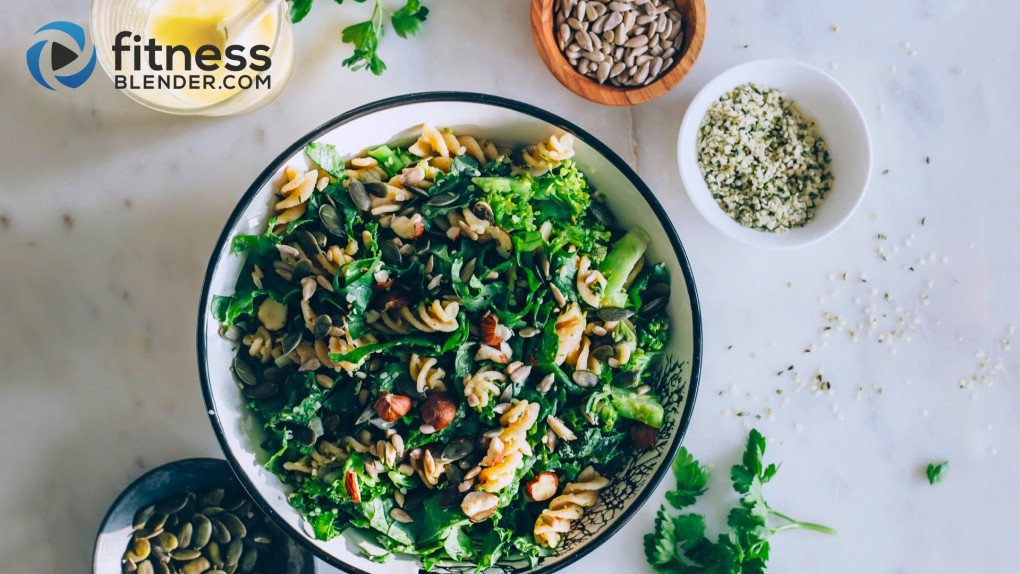 Green pasta salad: Nutrient dense, fresh & easy