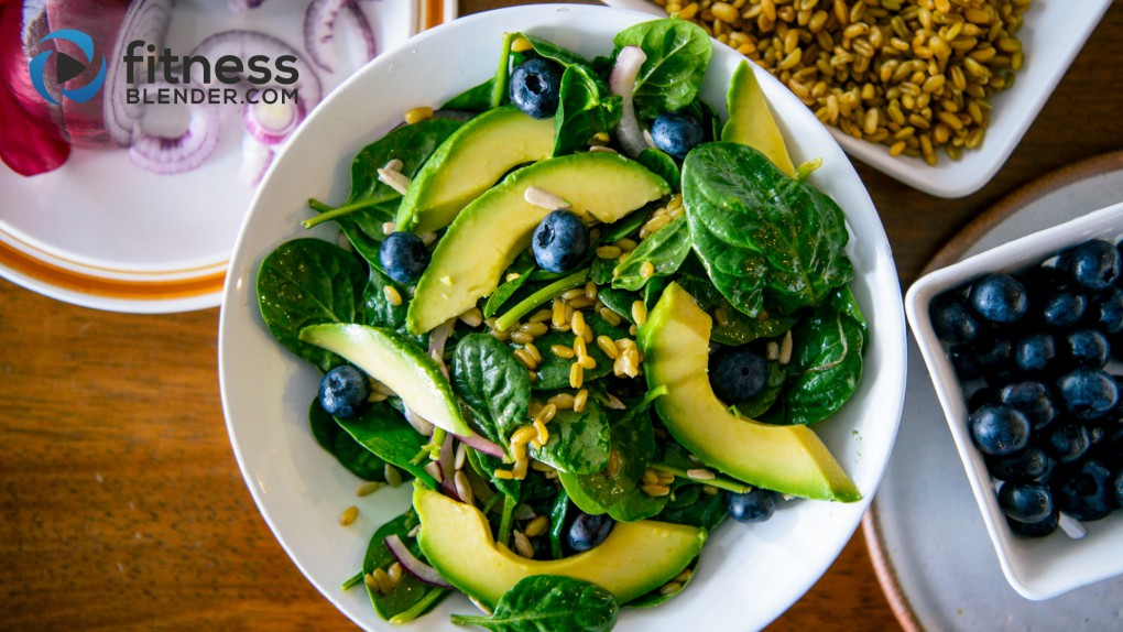 Spinach Superfood Salad with Heart Healthy Fat