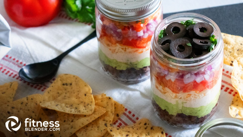 Mexi Mason Jar Dip with Whole Grain Tortilla Chips