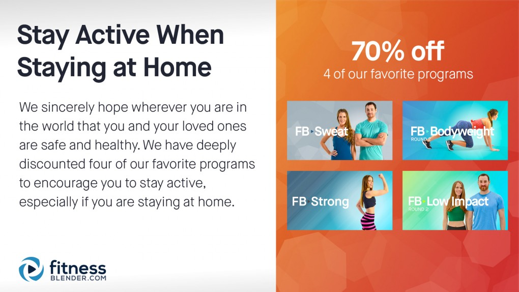 70% Discount on our favorite Home Workout Programs