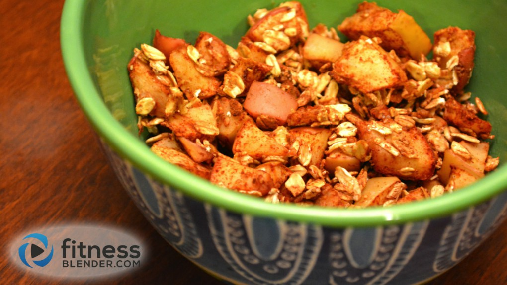 Homemade Toasted Apple Cinnamon and Oats Cereal - Healthy Snack Recipe