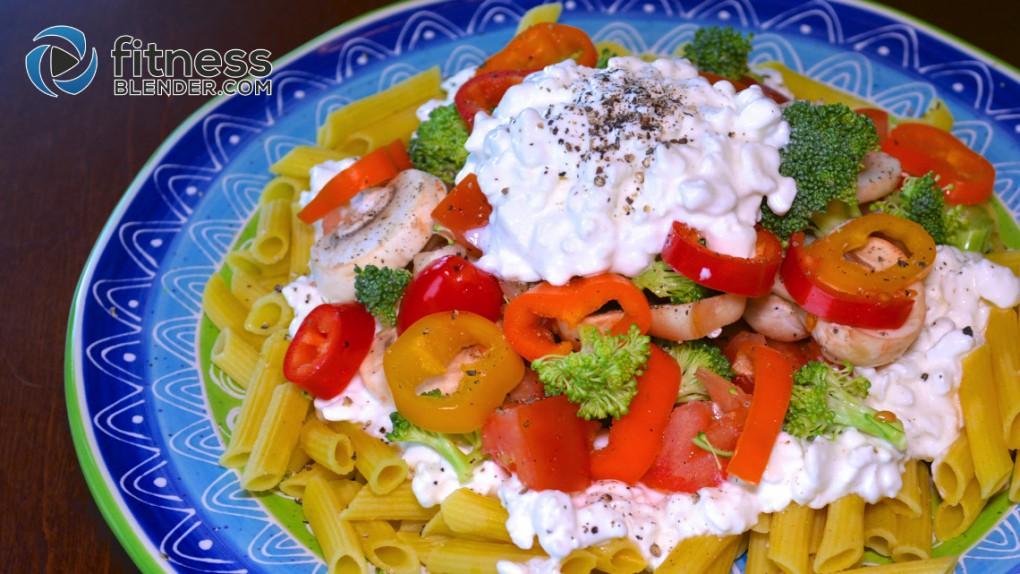 Easy, Quick, Raw Veggie Penne Pasta Salad