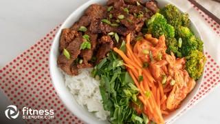 Korean Bulgogi Bowls with Beef, Kimchi, and Vegetables