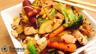 Garlic Basil Chicken Vegetable Stir Fry