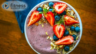 Blueberry-Banana and Cacao Smoothie Bowl