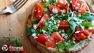 Mediterranean-Inspired Salmon Pita Toast