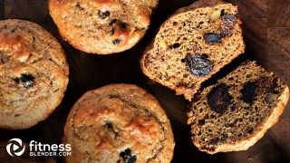 Fig and Dark Chocolate Whole Wheat Muffins