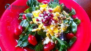Fresh, Fun Salad Combo: Walnut, Cranberry, & Feta Spinach Salad with Garlic ACV Dressing