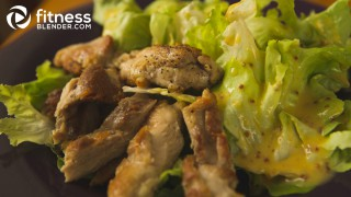Crispy Chicken Caesar Salad with Homemade Caesar Dressing
