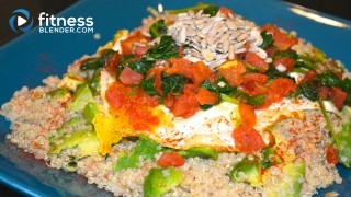 Cumin and Garlic Quinoa Avocado Egg Combo - Healthy One Dish Meal