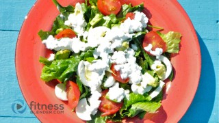 Tomato, Egg & Avocado Salad with Garlic Cottage Cheese Dressing