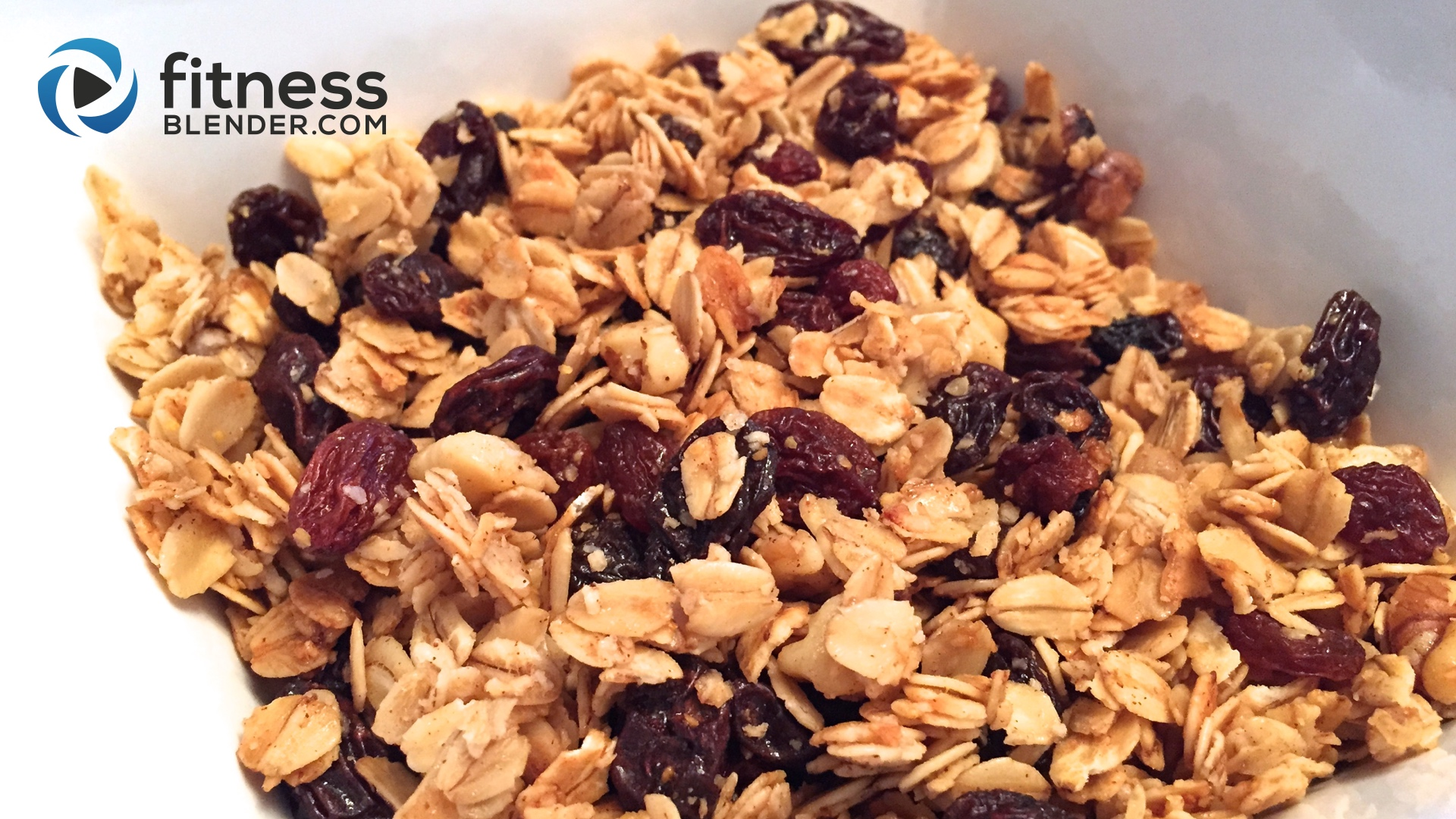 Oatmeal cookie granola healthy granola recipe fitness blender ccuart Gallery