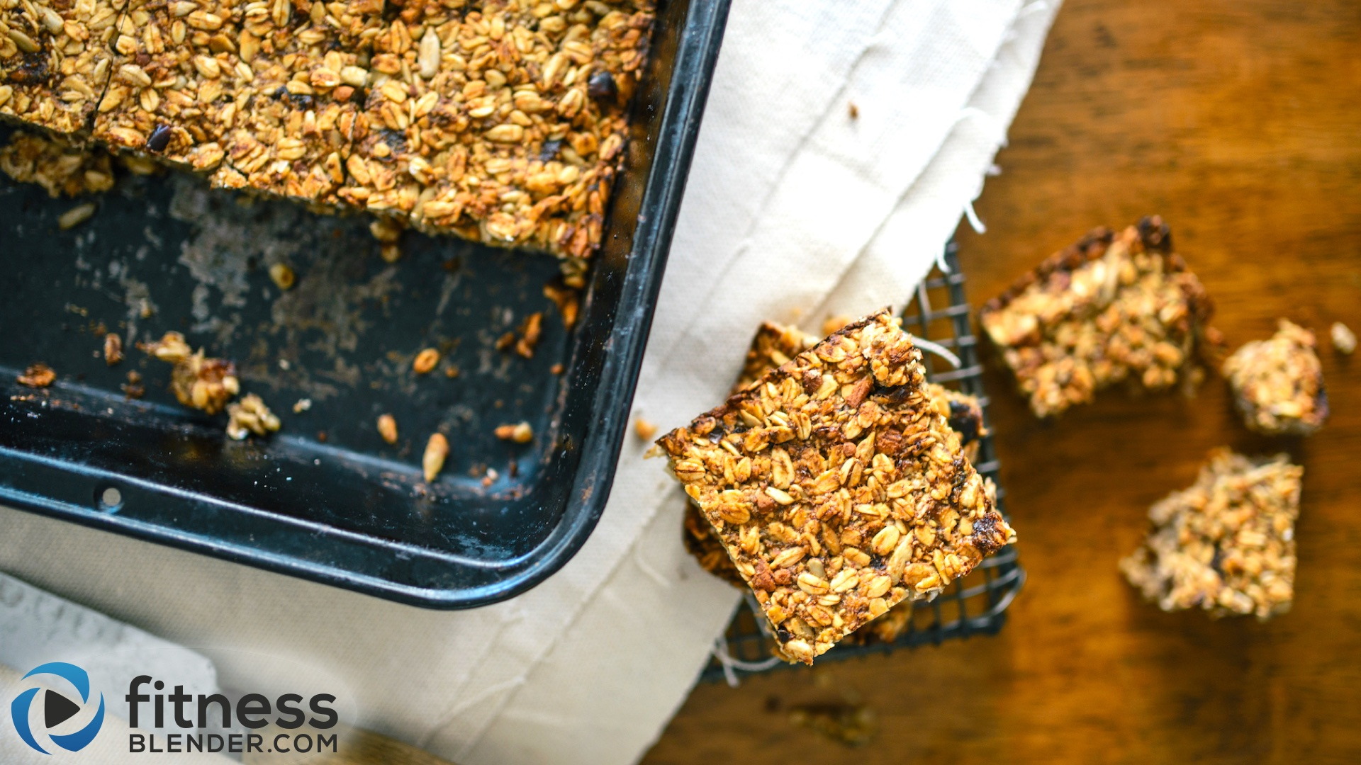 Healthy breakfast bars recipe: Banana Oat Bars