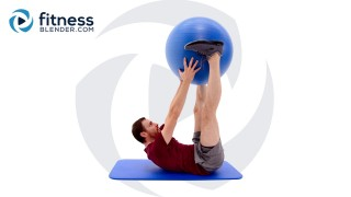 Home Physioball Abs Workout - Exercise Ball Abs Routine