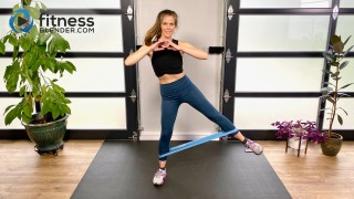 Standing Resistance Band Butt and Thigh Workout for Glute Activation and Burnout