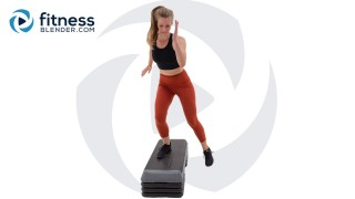 Workout With Me! Lower Body Strength & HIIT Cardio Bursts With Dumbbells and Step