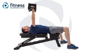 Upper Body 3-Day Split - Chest and Triceps Strength Workout Split