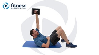 Weighted Core Strength Routine - Home Abs Mass Dumbbell Routine