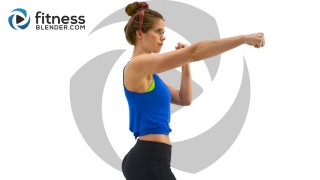 No Equipment Upper Body and Cardio Kickboxing Workout