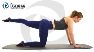 At Home Pilates Butt and Thigh Workout - No Equipment Pilates Workout