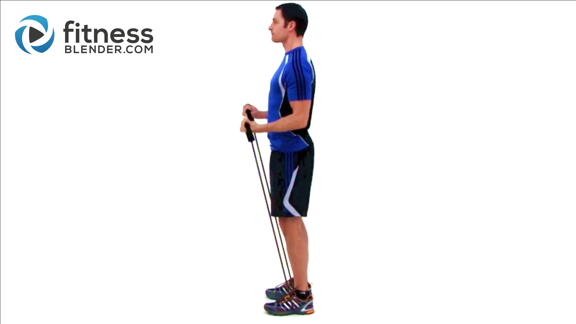 16 Minute Bicep Tricep Super Set Workout Resistance Band Exercises Fitness Blender