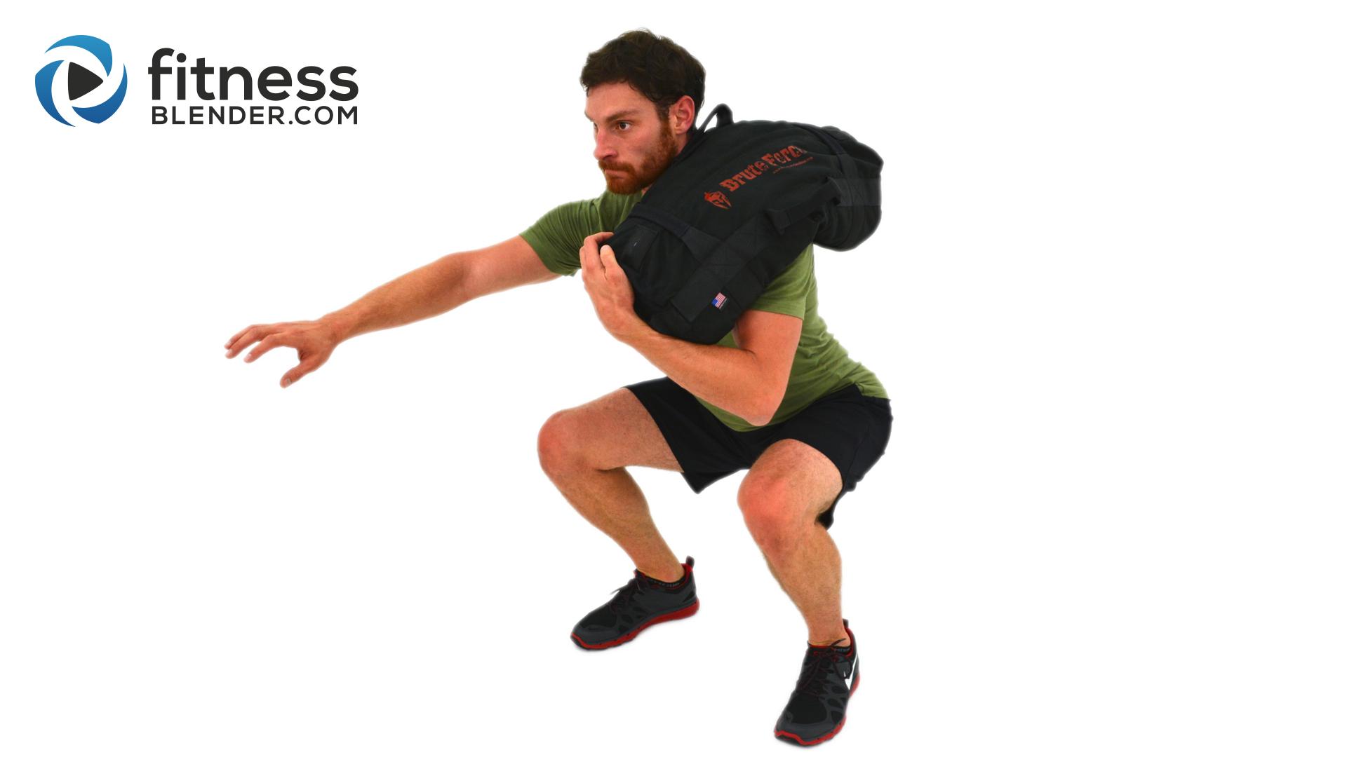 Advanced Sandbag Workout - Total Body Sandbag Training Burnout | Fitness Blender