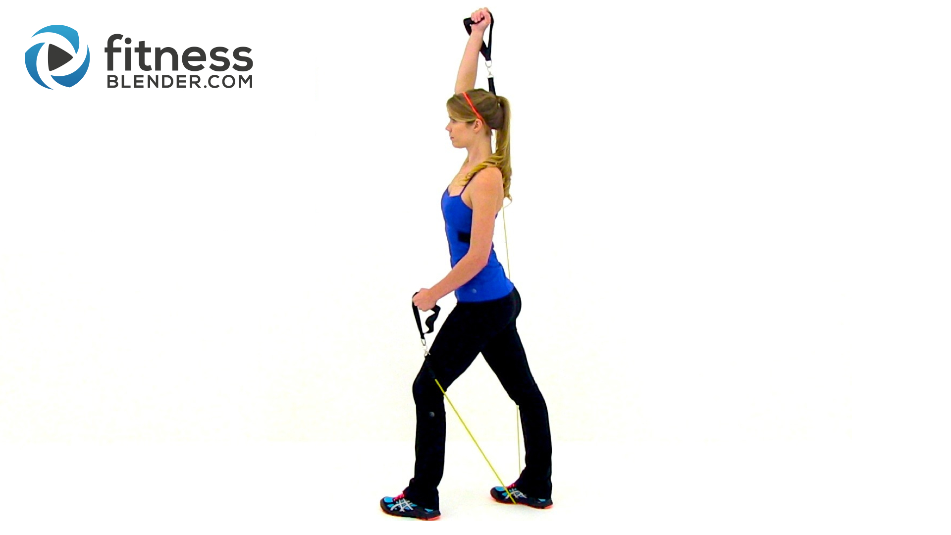 At Home Resistance Band Workout For The Upper Body Exercise Training Fitness Blender